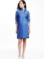 Old Navy Maternity Pullover Chambray Shirt Dress