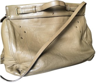 Jerome Dreyfuss Carlos Khaki Leather Handbags