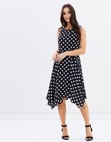 Wallis Spot Hanky Hem Dress