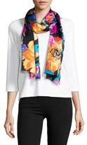 Lauren Ralph Lauren Caitlin Floral-Printed Silk Scarf