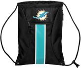 Forever Collectibles Miami Dolphins Striped Zipper Drawstring Backpack