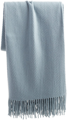 A & R Cashmere Chevron Weave Cashmere-Blend Throw