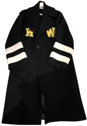 Off-White Black Wool Coat for Women