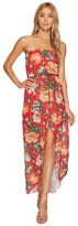 Romeo & Juliet Couture Floral Chiffon Dress with Belt
