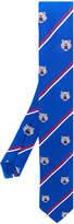 Kenzo striped Tiger motif tie