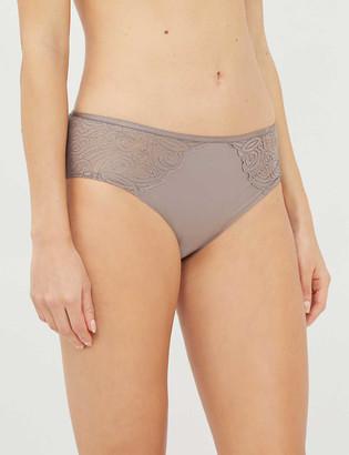 Chantelle Lace-trimmed low-rise bikini briefs