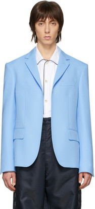 Random Identities Blue Buttonless Blazer