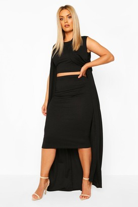 boohoo Plus 3 Piece Duster Set Co-Ord