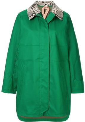 No.21 Contrast-Collar Coat