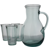 French Home Urban Five-Piece Recycled Glass Pitcher & Tumblers Set
