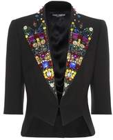 Dolce & Gabbana Embellished virgin wool and silk-blend jacket
