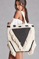 Forever 21 FOREVER 21+ Fringed Crochet Bag