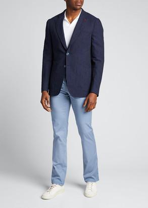 Isaia Men's Solid Seersucker Sport Jacket