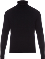 Balenciaga Roll-neck ribbed-knit wool sweater