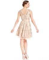 Betsy & Adam Dress, Sleeveless Sequin A-Line