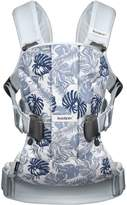 BABYBJÖRN Baby Carrier One-Leaf Print/Pale Blue, Cotton Mix