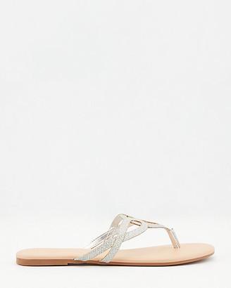 Le Château Glitter Mesh Thong Sandal