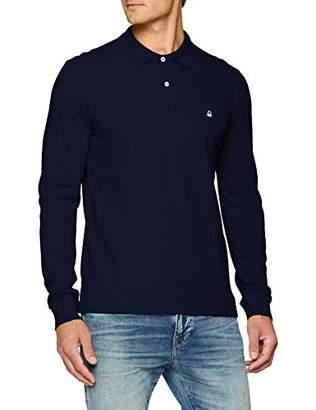 Benetton Men's L/s Polo Shirt,Small