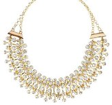 Charlotte Russe Rhinestone Cluster Bib Necklace