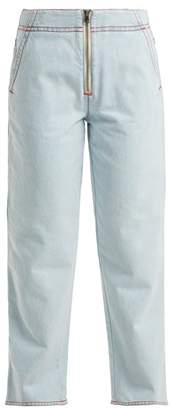 Marni Exposed Zip Jeans - Womens - Light Blue