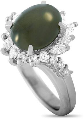 Heritage Platinum 5.46 Ct. Tw. Diamond & Cat's Eye Ring