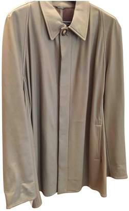 Hermes Khaki Leather Jackets