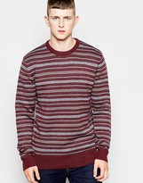 French Connection Fair Isle Jumper - Red