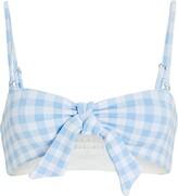 Thumbnail for your product : Frankie's Bikinis Enzo Gingham Bikini Top