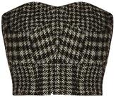 Raey Cropped herringbone corset top