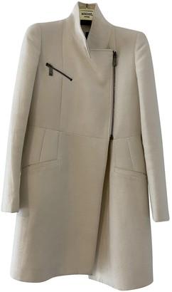 Pinko White Wool Coat for Women