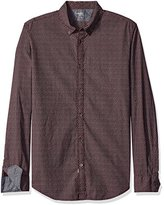 Calvin Klein Jeans Men's Lipstick Print Long Sleeve Button Down Shirt