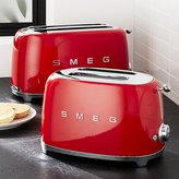 Crate & Barrel Smeg Red Retro Toasters