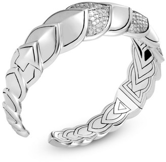 John Hardy Legends Naga Sterling Silver & Diamonds Cuff