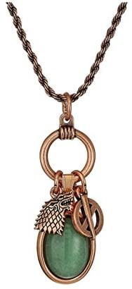 Alex and Ani Game of Thrones, Sansa Stark 21 Adjustable Trio Necklace (Rafaelian Rose Gold) Necklace