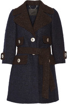 Marc Jacobs Two-tone llama and wool-blend coat