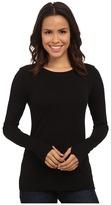 Michael Stars Cotton Lycra Long Sleeve Crew w/ Thumbholes Women's Clothing