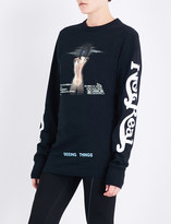 Off-White Woman long-sleeved cotton-jersey top