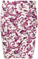 BA&SH Rooster paisley-print mini skirt