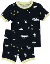 Petit Lem Alien Top & Pants Pajama Set, Navy, Size 2-4T