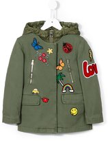 Ermanno Scervino multi-patch parka - kids - Cotton/Polyester/Spandex/Elastane - 4 yrs
