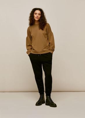 Gathered Sleeve Sweatshirt