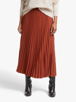 Selected Alexis Pleated Midi Skirt, Smoked Paprika