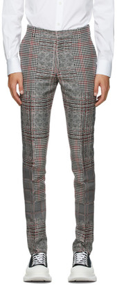 Alexander McQueen Black and White Prince of Wales Jacquard Trousers