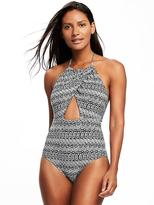 Old Navy Wrap-Front Halter Swimsuit for Women