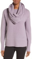 Nordstrom Women's Texture Knit Cashmere Pullover With Snood