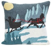 "Liora Manné Frontporch Sleigh Ride Pillow Blue - (18""x18"") Square"