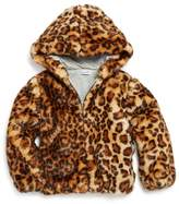 Splendid Girls' Faux-Fur Leopard-Print Jacket
