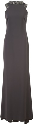 Badgley Mischka Long Sleeveless Dress