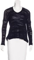 Yigal Azrouel Leather-Trimmed Knit Sweater