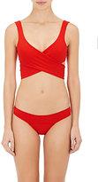Lisa Marie Fernandez Women's Marie-Louise Crepe Wrap Bikini-RED